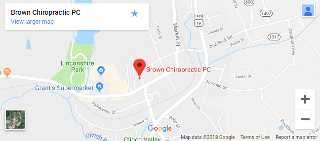 North Tazewell VA Chiropractic Map